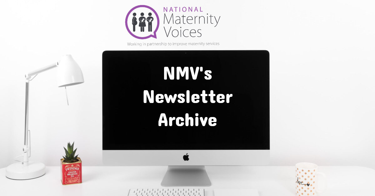 National Maternity Voices' newsletter archive